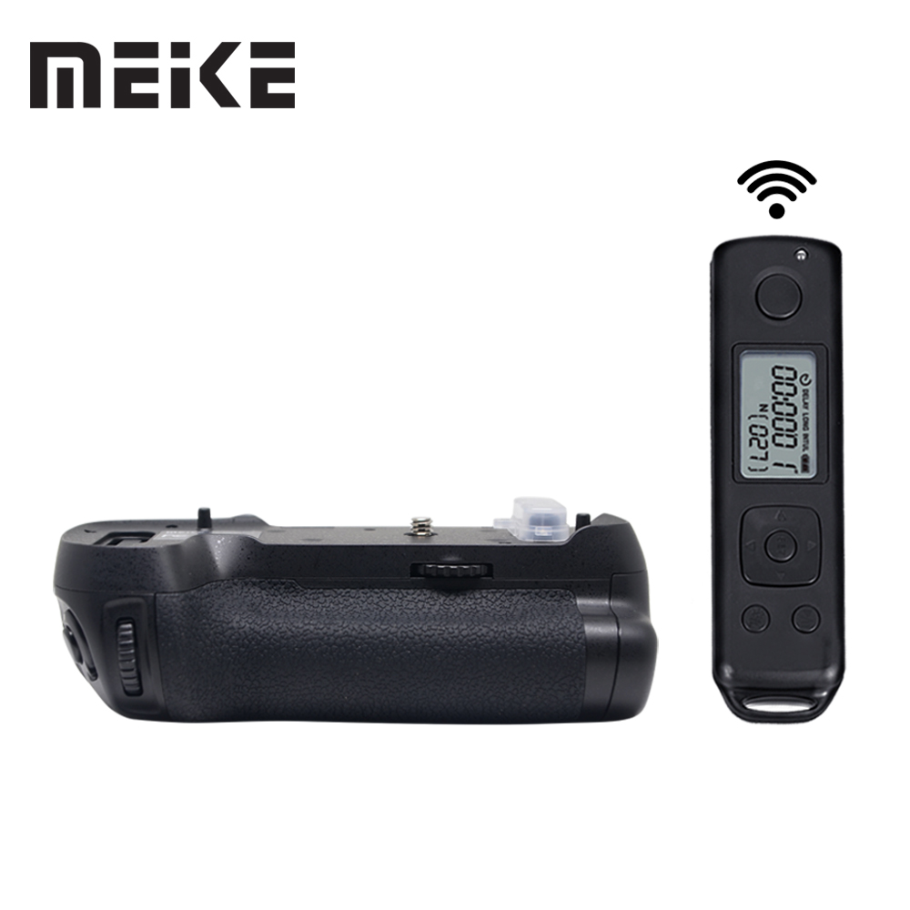 Meike MK-D850 Pro Vertical Shooting Power Pack Battery Grip with 2.4G Hz Wireless Remote Control for Nikon D850 CameraMeike MK-D850 Pro Vertical Shooting Power Pack Battery Grip with 2.4G Hz Wireless Remote Control for Nikon D850 Camera