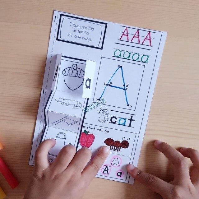 Aprendizaje Inglés Fonic 26 Letras De Alfabeto Cuaderno Interactivo Para Colorear Entrenamiento Práctica Libro Juguetes Educativos Para Niños
