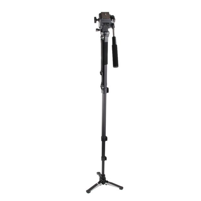 Camera Tripod Holder Monopod + Fluid Pan Head Ball + DV Unipod Mobile Phone Clip Holder For Canon for Nikon DSLR Camera
