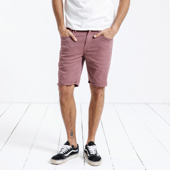 Fashion High Quality Denim Shorts Men's Summer New Purple Red Vogue Handsome Slim Fit  Washed Jeans Plus Size Brand Clothing