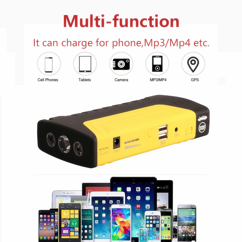 Starting Device Power Bank 12V Jump Starter Multifunctional Car Charger for Car SOS Flashlight Emergency Battery Booster(China)