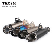 TKOSM Universal 60mm 51mm Motorcycle Modified Exhaust Muffler SC Laser Or Sticker Scooter Exhaust Suitable For