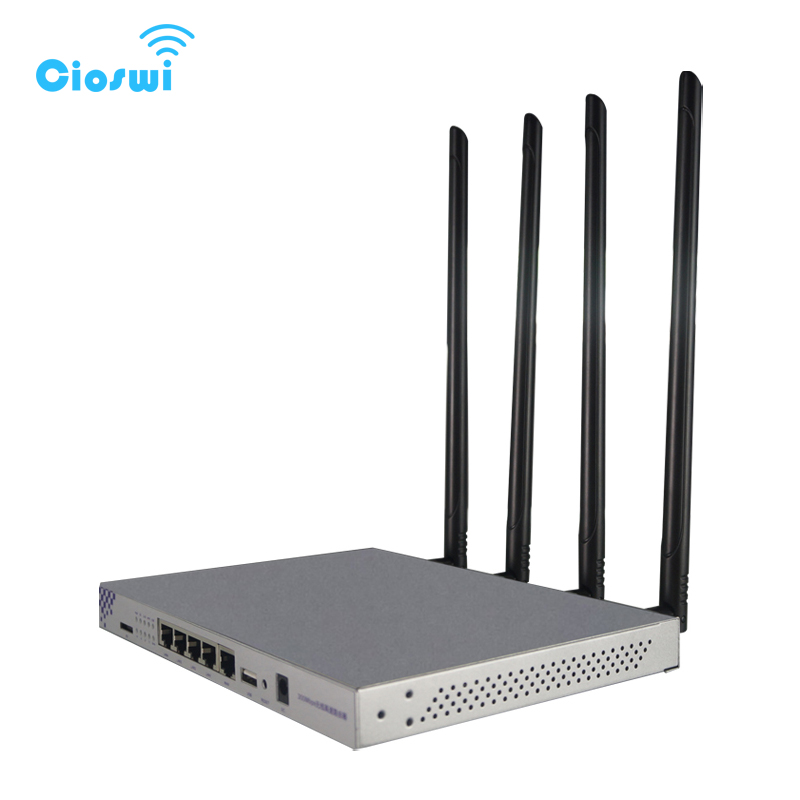 WiFi Router Repeater Wireless 11AC 1200Mbps Dual Band Openwrt With 7dBi External Antennas USB Port 128MB Metal Housing Firewall tp link wireless router 802 11ac ac1750 dual band wireless wifi router 2 4g 5 0g vpn wifi repeater tl wdr7400 app routers