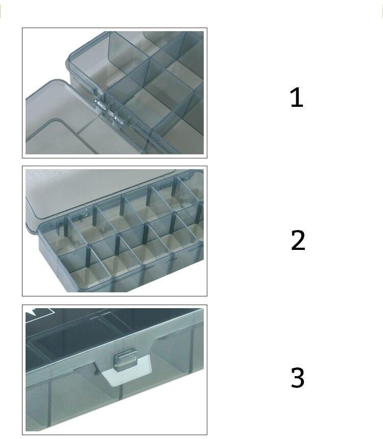 Honig Tragbare Schrauben Lagerung Box Transparent Doppel-seite Multifunktionale Lagerung Fall Kunststoff Haushalt Hand Werkzeug Organisation Box Werkzeug Organisatoren