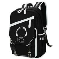 4d221fad4 Homem de negócios de moda mochilas laptop de carregamento usb escola  backpack school bolsas para meninos