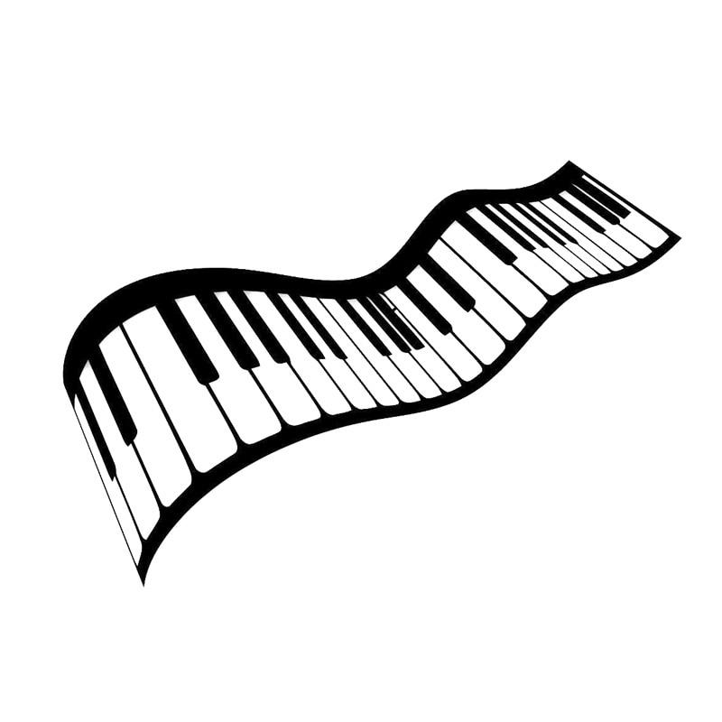 16.8cm*11.6cm Music Sheet Piano Keys Vinyl Car Styling