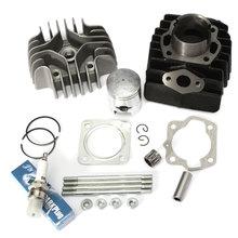 Cylinder Piston Ring Gasket Top End Kit 11210-04012-0F0 11111-04001 12110-43000 For Suzuki Quadrunner LT50 1984-1987