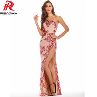 Sexy Womens Bling Sequins Summer Dress women One Shoulder maxi Long vestido befree Luxury Nightclub Queen Party Dresses elegant
