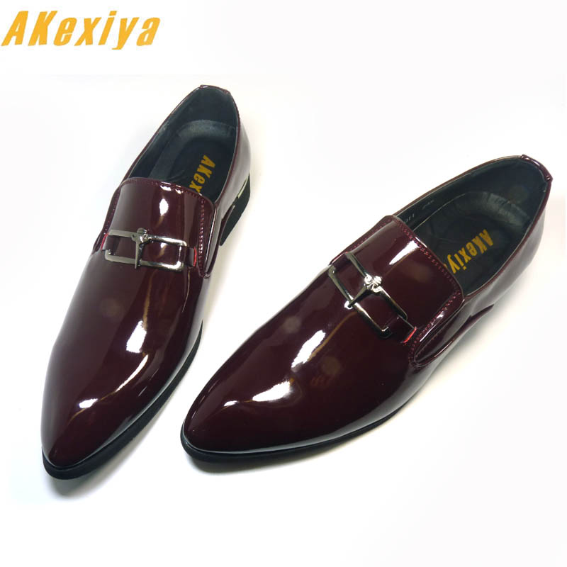 preview of offer agreatvarietyofmodels Men Brand Designer Shine pointed Metal buckle Formal Shoes Male Homecoming  Dress Wedding Prom Sapato Social Masculino