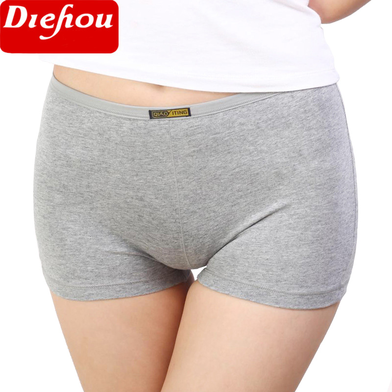 Summer Women Safety Short Pants Femme Cotton Underwear Boxer Shorts Underpants Plus Size L-2XL Seamless   Panties   For Women