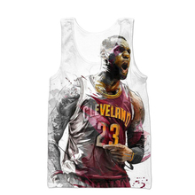 hot sale 2018 summer new Fashion brand Men tank tops All-Star Jordan/Lebron James 3d print Men Women casual vest free shipping