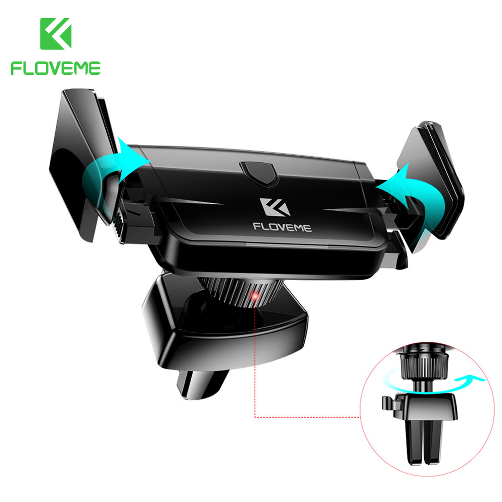 FLOVEME Car Phone Holder Air Vent Mount Holder For Phone in Car For Samsung iPhone Mobile Phone Holders Stands AccessoriesFLOVEME Car Phone Holder Air Vent Mount Holder For Phone in Car For Samsung iPhone Mobile Phone Holders Stands Accessories
