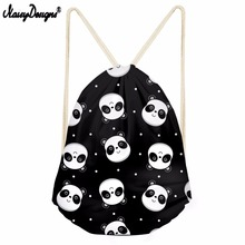 NOISYDESIGNS 3D Lovely Panda Pattern Printing Men Drawstring Bag Women Mochila Infantil Kids Girls Cute Animal School Backpacks