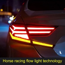 Bir çift araba Styling kuyruk lambası arka LED ışık montajı arka aydınlatma kiti modifikasyon araba farı oto lambaları meclisi Honda