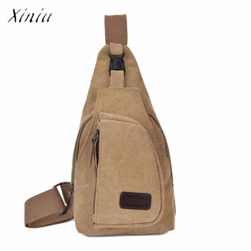Hommes taille sac 2018 entraînement décontracté toile déséquilibre sac à dos bandoulière sac à bandoulière poitrine sac pour hommes avec pochette de téléphone portable