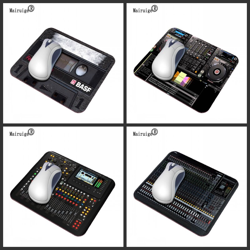Mairuige Black Radio Console Simulation Mouse Pad Anti-slip Rubber Game Office Computer Home Accessories Washable Pad Mat 29*25