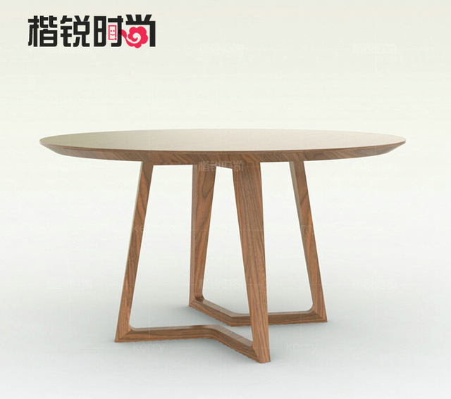 Kai Rui Stylish Scandinavian Modern Minimalist Furniture Round Dining Table Sub High End Custom Home Dt020