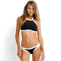 2017 Summer Styles Triangle Sexy Halter High Neck Bikinis Set Plus Size Swimwears Women Push Up