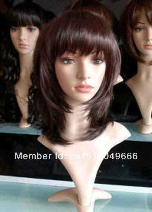 LIBERA LA NAVE>>> exquisite breve marrone rosso sexy delle donne PARRUCCA di capelli salute