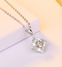 2019 New S925 Sterling Silver Pendant Crystal Zircon Ladies Fashion Elegant Jewelry Gift