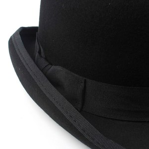 Image 5 - 100% Wool Bowler Hat Women men 100% Crushable Traditional Billycock Groom Hats 4 Size S M L XL