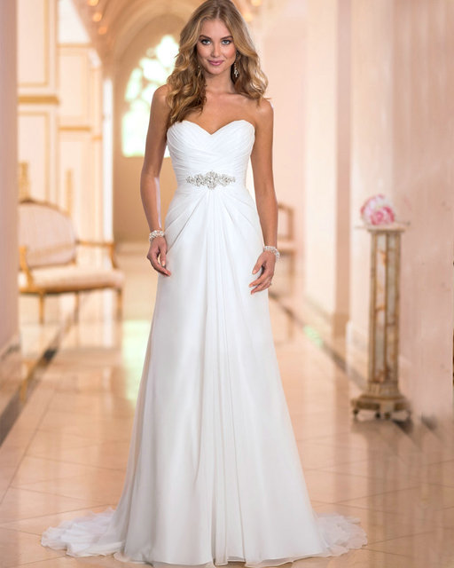 Gown Wedding Dress Chiffon Ivory Wedding Gowns for Pregnant Women ...