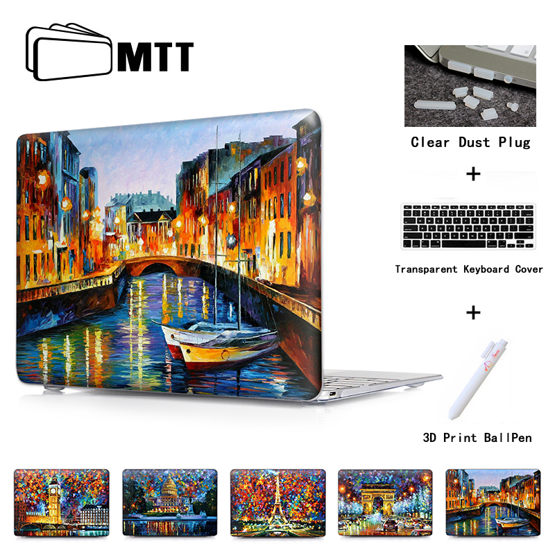 ST. PETERSBURG RIVER Print Hard Case Sleeve Shell for Macbook air 11 12 13 / Macbook pro 13 15 with retina display Crystal Cover