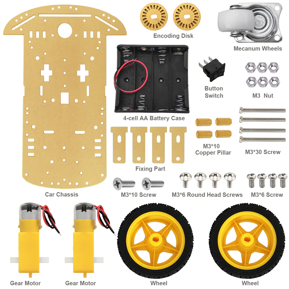 KEYES Smart Robot Car Chassis Kit For Arduino