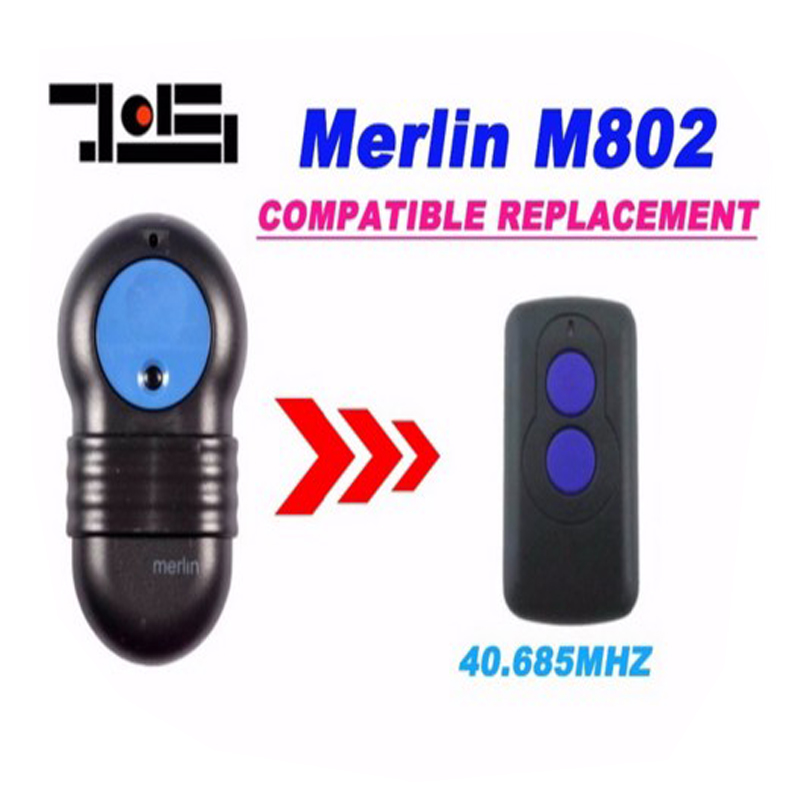 1pcs For Merlin M802  40.685Mhz  Garage Door Remote Replacement Remote Control