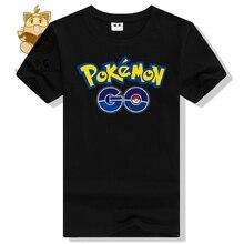 World's hot mobile game Pokemon Go logo priting cotton tee shirt men's t shirt pokemon go AC124 Pokemon trainer t shirt