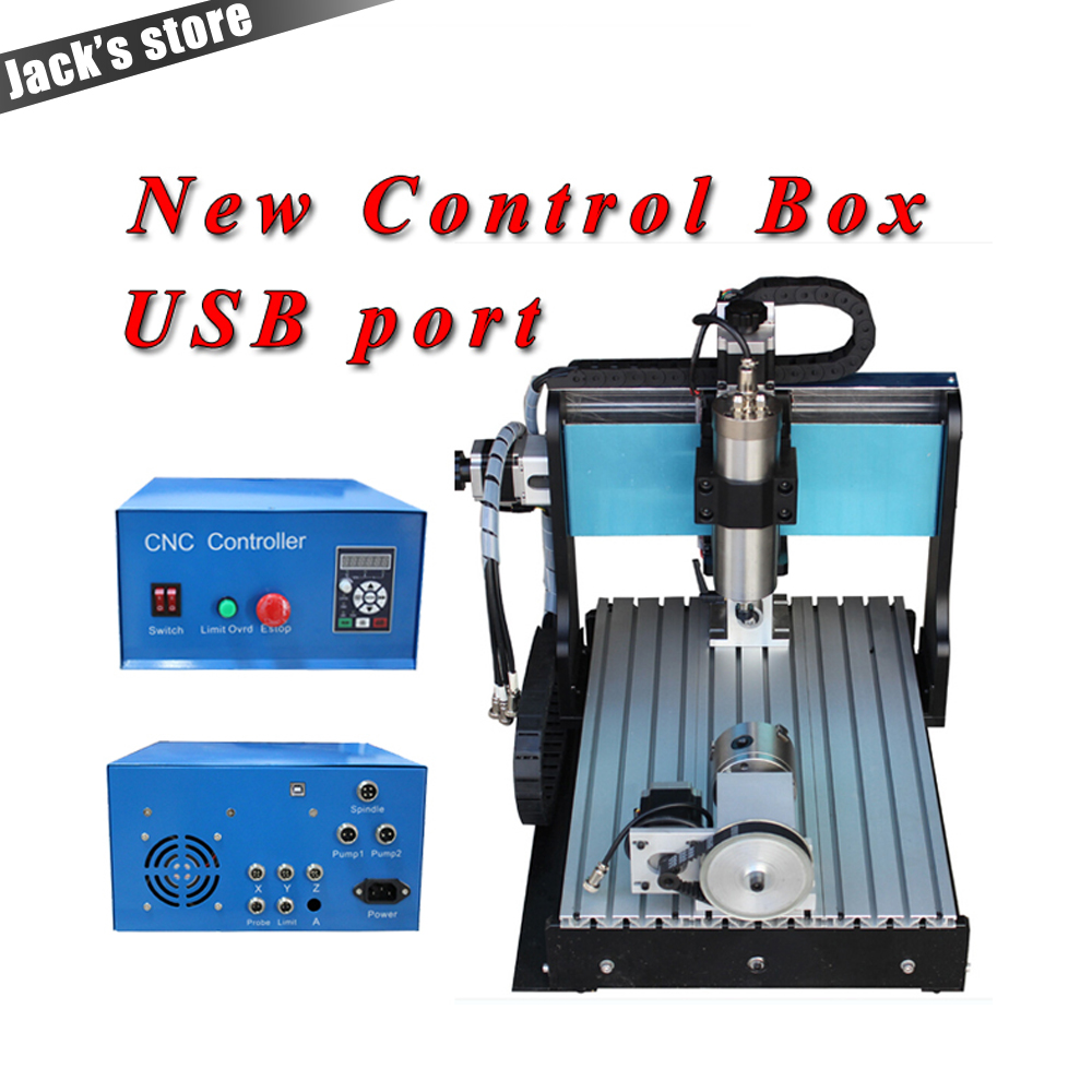USB port ! 3040Z-SS++ (4-axis), 30401500WSpindle+2.2kw VFD  Router water-cooling+4axis Metal engraving machine  machine