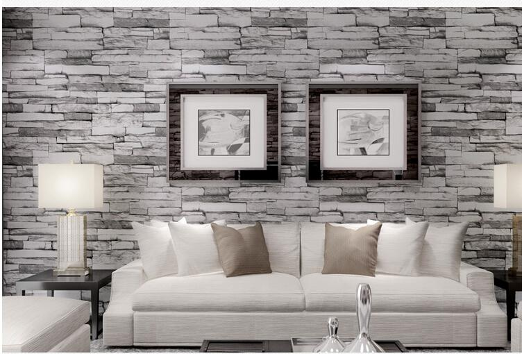 Brick wallpaper living room design living room for Brick wallpaper living room ideas