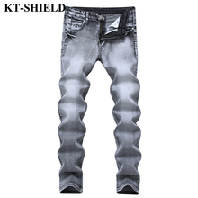 Jeans Uomo Nuovo Elegante Slim fit Denim Pantaloni Jeans Uomo Casual Pant  Stretch Elastico Famosa Marca Hip hop Skinny Jeans Per. fbc3adaf249e