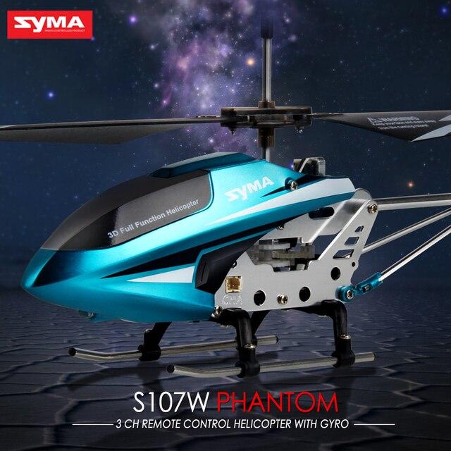 Syma S107W RC Hélicoptère D\'intérieur Radio RC Avions Alliage Anti ...