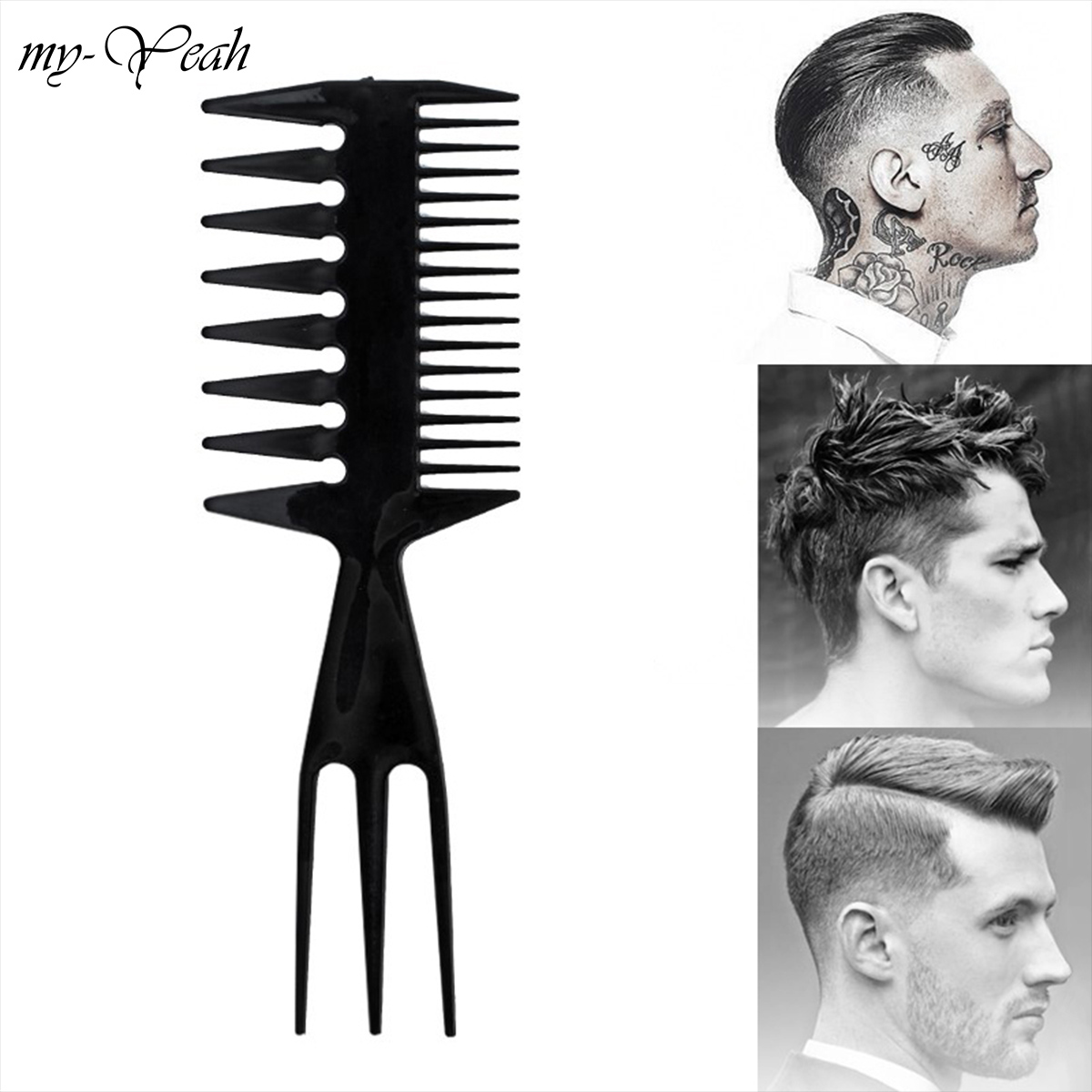 Pro Salon Double Side Tooth Combs Barber Hair Dyeing Cutting Fish Bone Shape Comb Coloring Tint Brush Home Use DIY Styling Tools wire