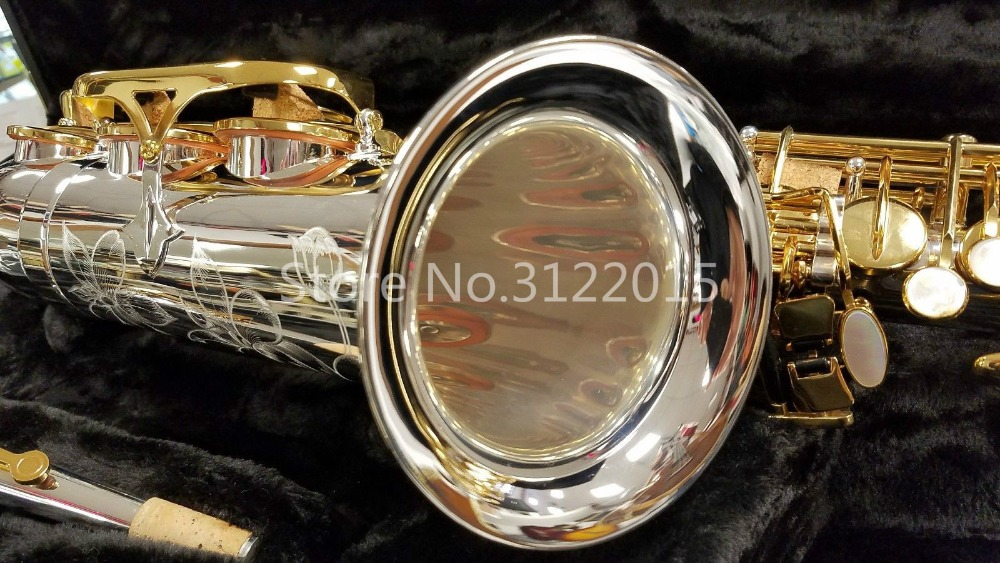 Jupiter JAS 1100SG Alto Eb Tune Saxophone High Quality Musical Instruments Brass Silver Plated Body Gold Lacquer Key Sax