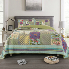 New Luxury American Pastoral Printing 100% Cotton Bedspread Bed Sheet Linen Cover Summer Quilt Blanket Pillowcases 3pcs