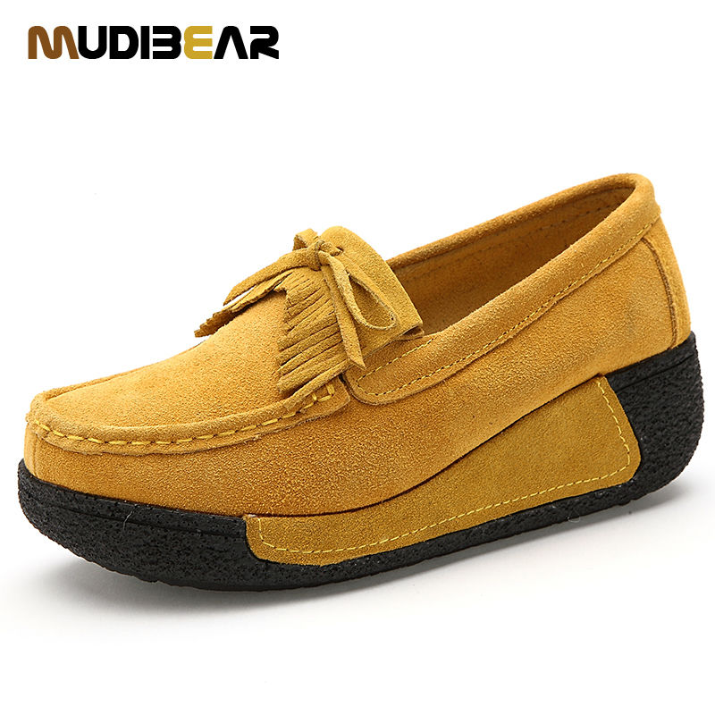 Rubber Shoes For Women Casual Female Shoe Flat Bow Quality Suede Lady Soft Autumn Rubber Shoes For Women Skid FemaleShoe Fashion e lov women casual walking shoes graffiti aries horoscope canvas shoe low top flat oxford shoes for couples lovers