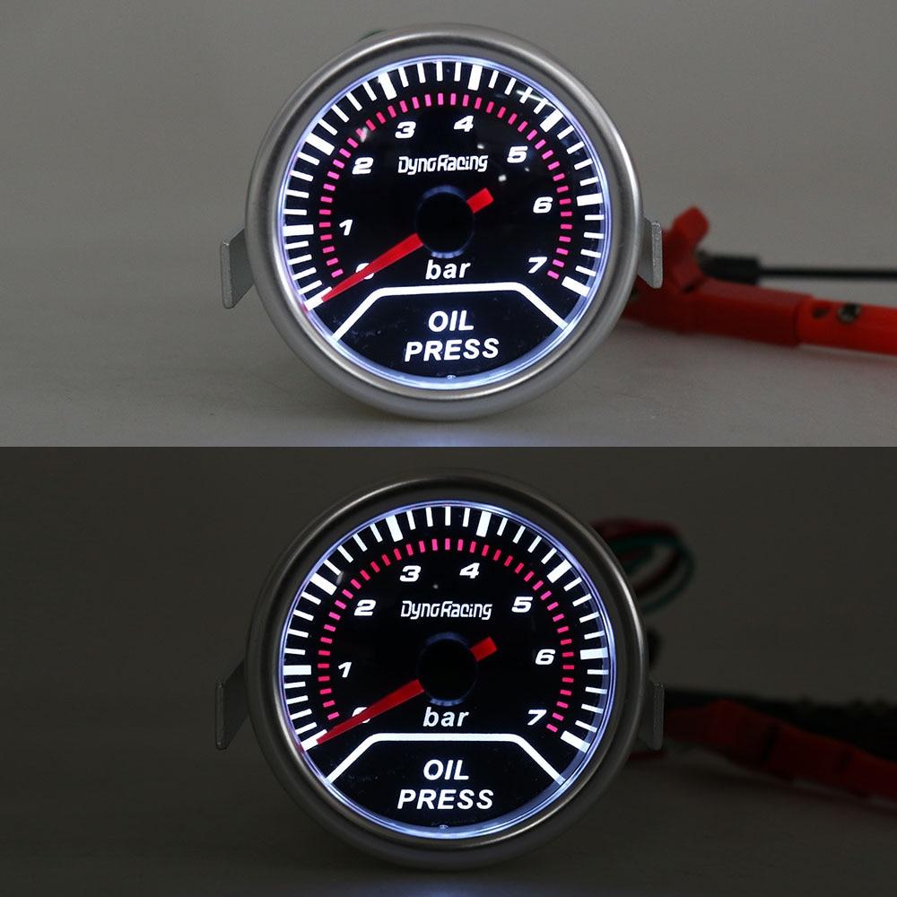 """Dynoracing автомобиль """" 52 мм Датчик давления масла 0-7 бар с датчиком дымовая линза Масляный Пресс датчик Автомобильный измеритель TT101231"""