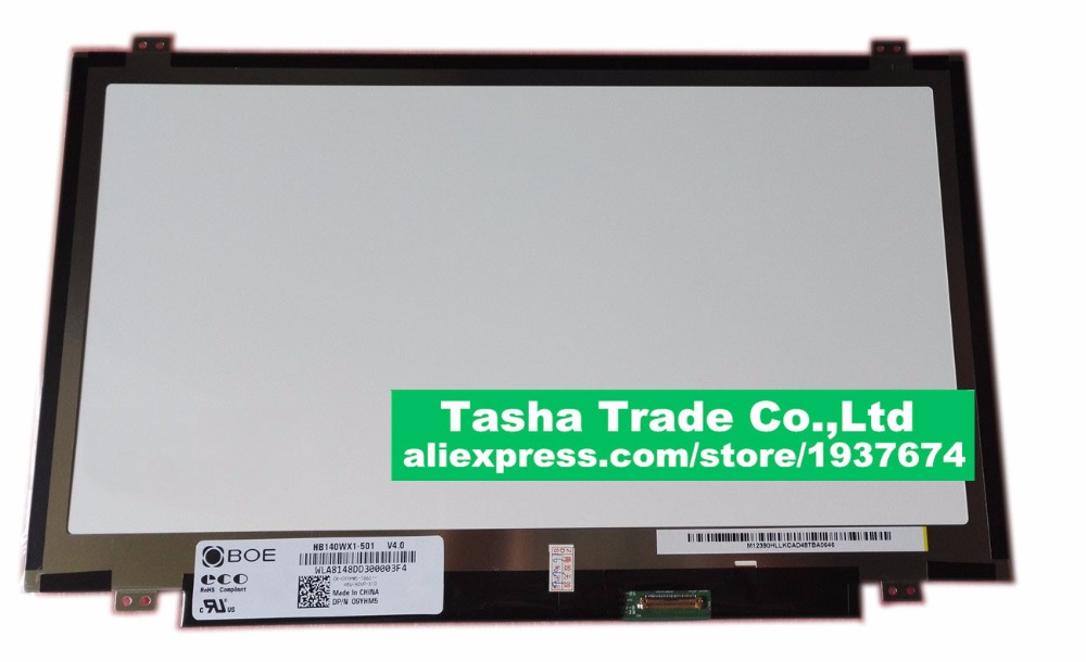14.0 LCD Laptop Screen BOE HB140WX1-501 HB140WX1 LED Panel for New 14 WXGA HD Display ht140wxb 501 new 14 0 led lcd screen wxga hd panel display