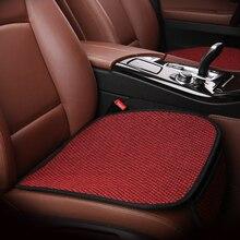 KKYSYELVA Universal Flax Car Seat Cover Set Pad Automobiles Cushion Auto Vehicle 6 color Styling
