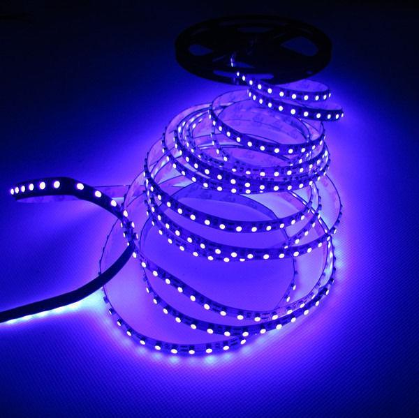 5M 3528 UV White PCB Non-Warterproof 120pcs/m Ultraviolet s