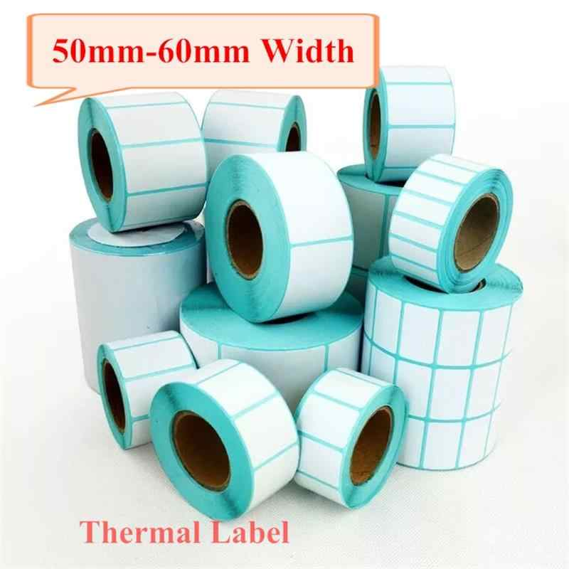 ECO Langsung label termal Roll, lebar 50mm-69mm, 1 Roll, inti 40mm, Matt Permukaan untuk Printer thermal