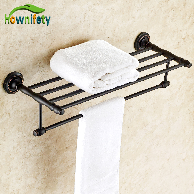 Luxury Oil Rubbed Bronze Bathroom Towel Shelf Towel Rack Towel Holder Bathroom Towel Accessories free postage oil rubbed bronze tooth brush holder double ceramic cups holder