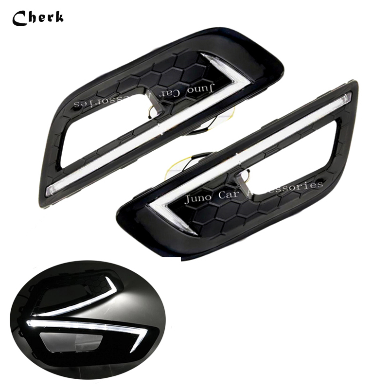 2pcs LED DRL Day Light For Ford Focus 4 2015 2016 2017 Daytime Running Light Waterproof Fog Lamp car-styling Free shipping led drl day light for toyota mark x reiz 2013 2014 daytime running light waterproof fog lamp car styling free shipping