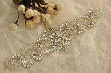 Wholesale Crystal Rhinestone Applique with Pearls for Bridal Sash, Wedding Gown, Bridal Accessories, DIY Wedding