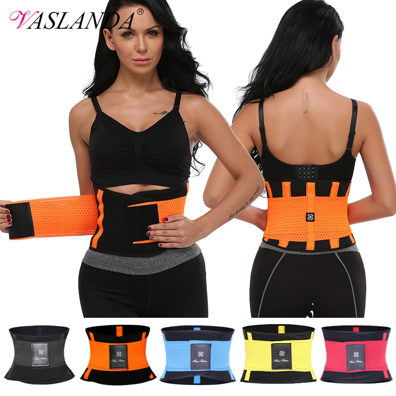 VASLANDA Waist Slimming Belt Shaper Lumbus Trainer Fat Compression Fitness Girdles Workout Shapewear Straps Modeling Corset