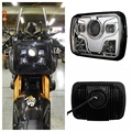 "1pcs 5""x7"" Square LED Headlights Projector with High/Low Beam DRL Driving Lamp For Truck Jeep Offroad Car Motorcycle"