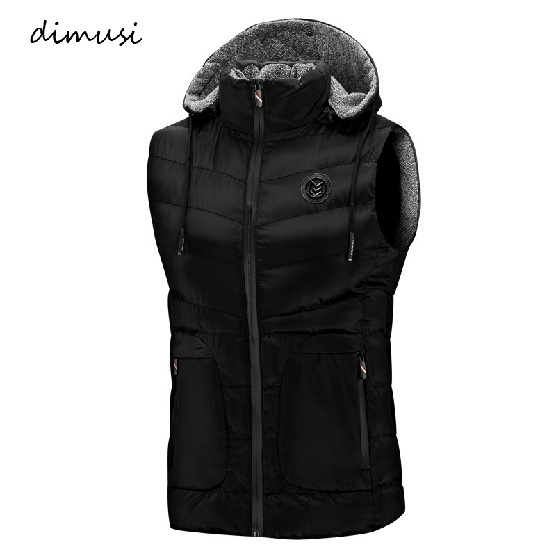 DIMUSI Mens Vests Spring Autumn Mens Fashion Sleeveless Jackets Male Cotton-Padded Vests Men Thicken Waistcoats Clothing,YA785
