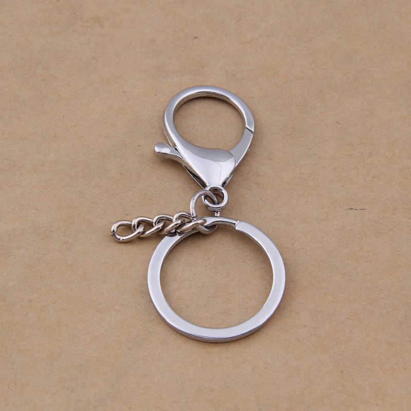Yage 10 pçs/lote Fecho Lagosta Com Corrente Chave Fit Jewelry Making DY003 Frete grátis, pele pom keychain